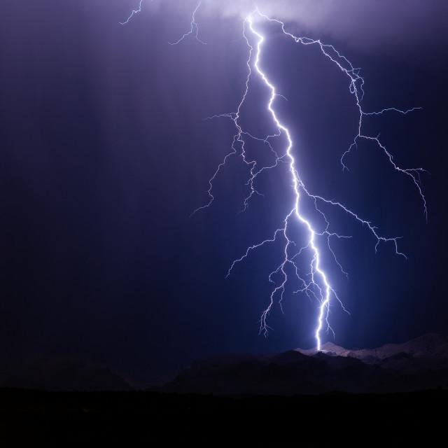 """""""Thunderstorm lightning strike"""" stock image"""