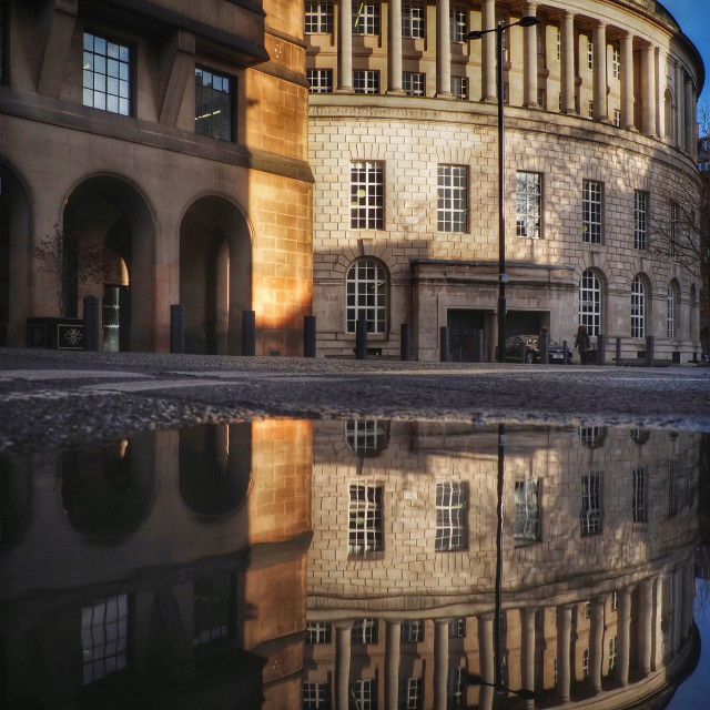 """""""Manchester central library"""" stock image"""