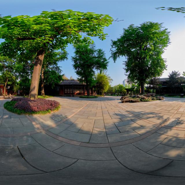 """360 degree panorama of Wangjianglou Park. Chengdu, Sichuan, China"" stock image"