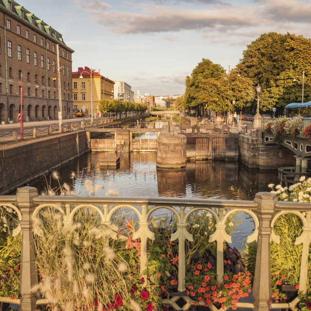 """""""Canal in Gothenburg"""" stock image"""