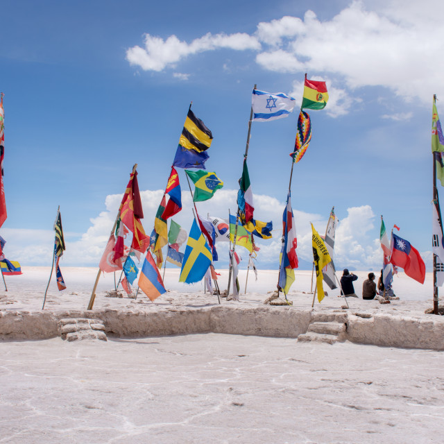 """""""Flags on the Salt Flats"""" stock image"""