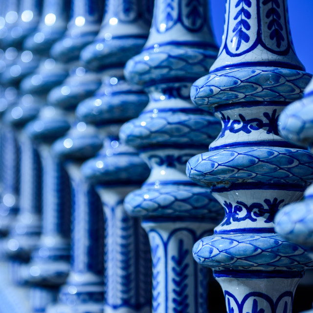 """Close up of ceramics in Seville"" stock image"