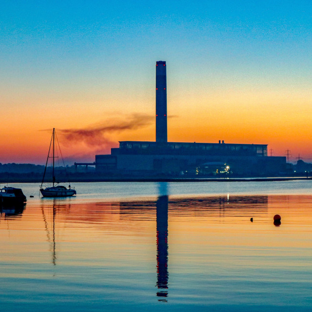 """Power Station Sunset"" stock image"