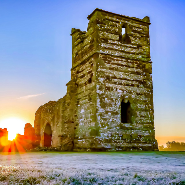 """Knowlton Sunrise"" stock image"