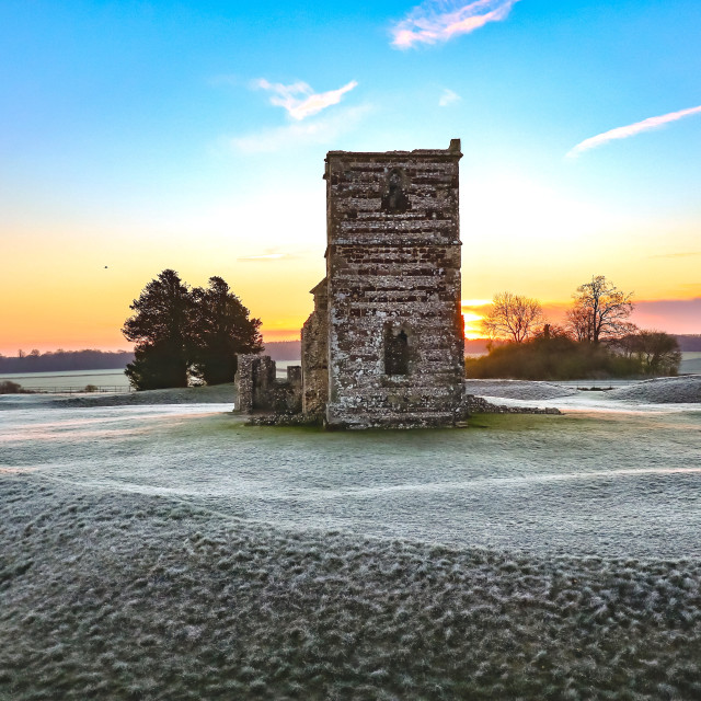 """Knowlton Church"" stock image"