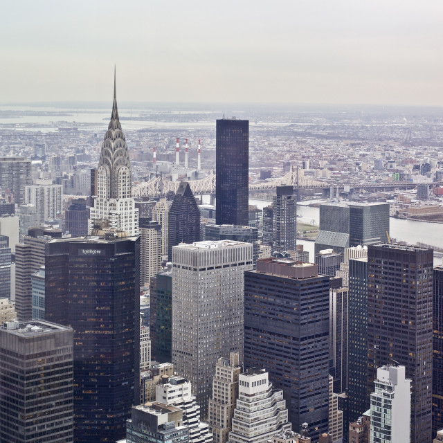 """""""Looking towards the Chrysler Building"""" stock image"""