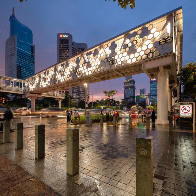 """""""Dukuh Atas Crossing Bridge"""" stock image"""