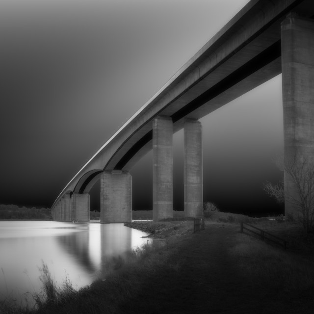 """Orwell Bridge"" stock image"