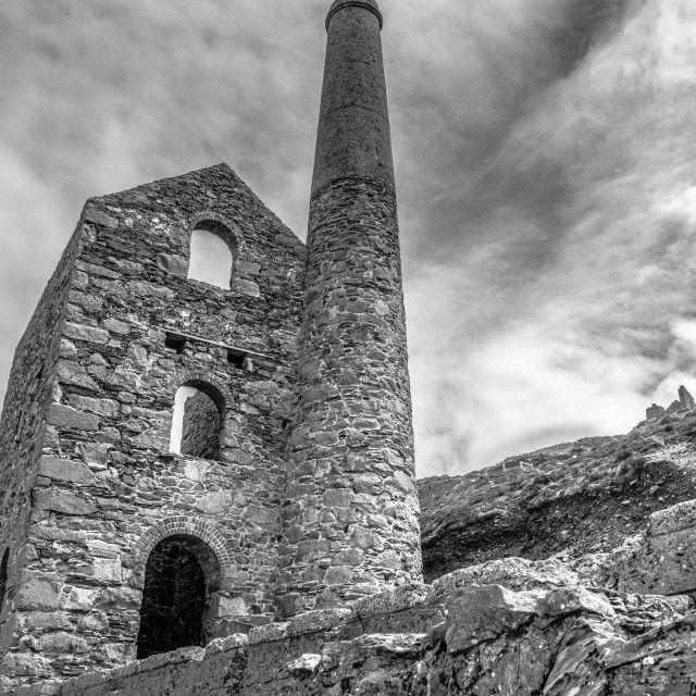 """Wheal Coates mine"" stock image"