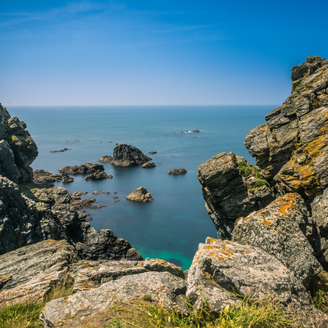 """Coast View from the Lizard Cornwall"" stock image"