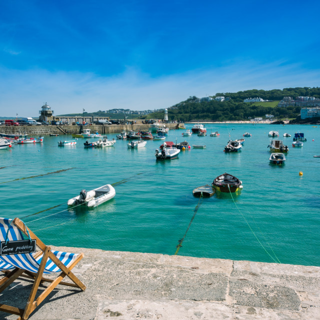 """St Ives Harbour Cornwall"" stock image"