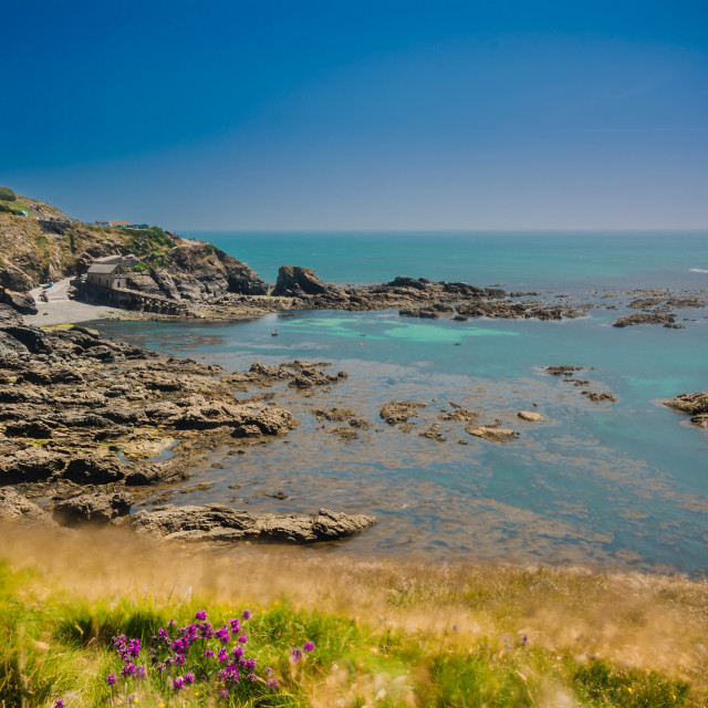 """View of Lizard Point Cornwall"" stock image"