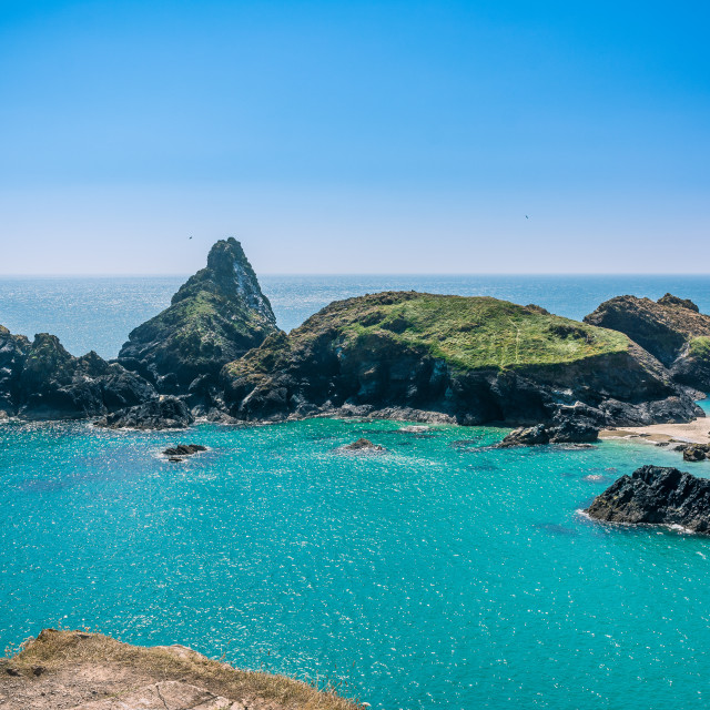"""Kyance Cove Cornwall"" stock image"