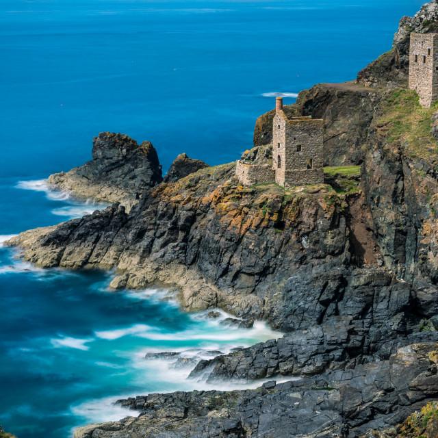 """The Crowns Engine Houses Cornwall"" stock image"