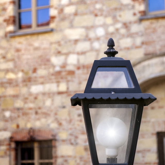 """""""Old style city light. Color image"""" stock image"""