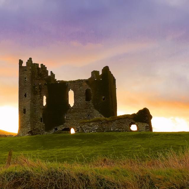 """Ballycarbery Castle"" stock image"