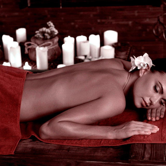 """""""Health SPA and wellness tourism. Exotic relax massage"""" stock image"""