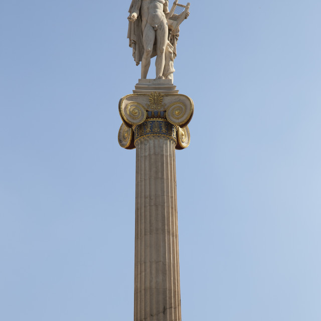 """""""Statue of Apollo God at the Academy of Athens Greece"""" stock image"""