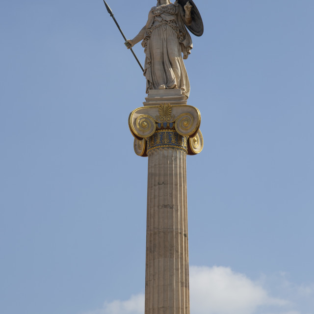 """""""Statue of Athena Goddess at the Academy of Athens Greece"""" stock image"""