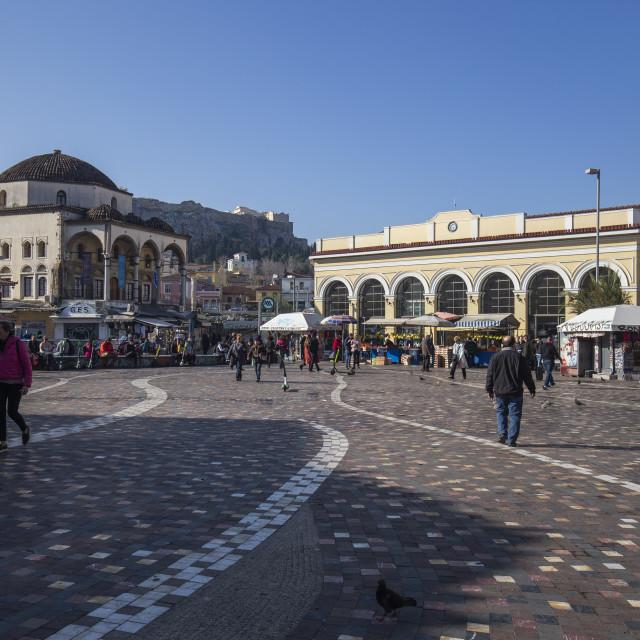"""Monastiraki Square"" stock image"