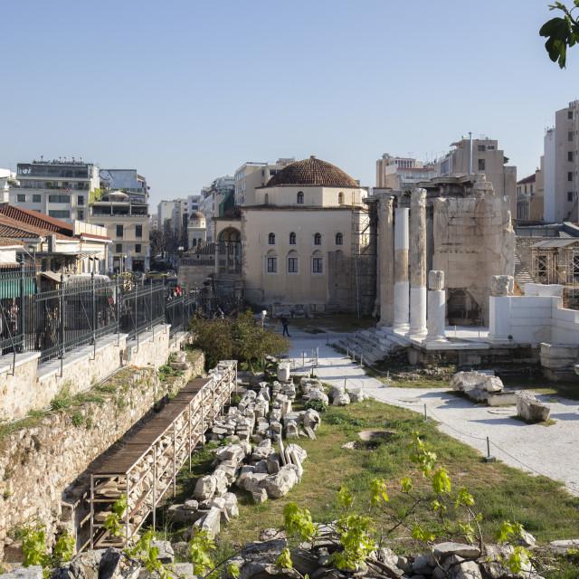 """Ancient Roman Forum - Athens Greece"" stock image"
