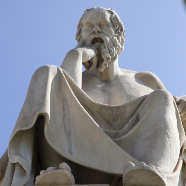 """Socrates philosopher statue"" stock image"