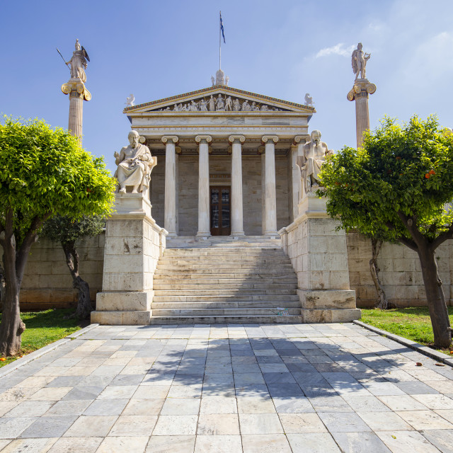 """""""Academy of Athens - Main Building"""" stock image"""