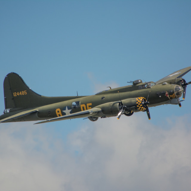 """""""B17 Flying Fortress"""" stock image"""