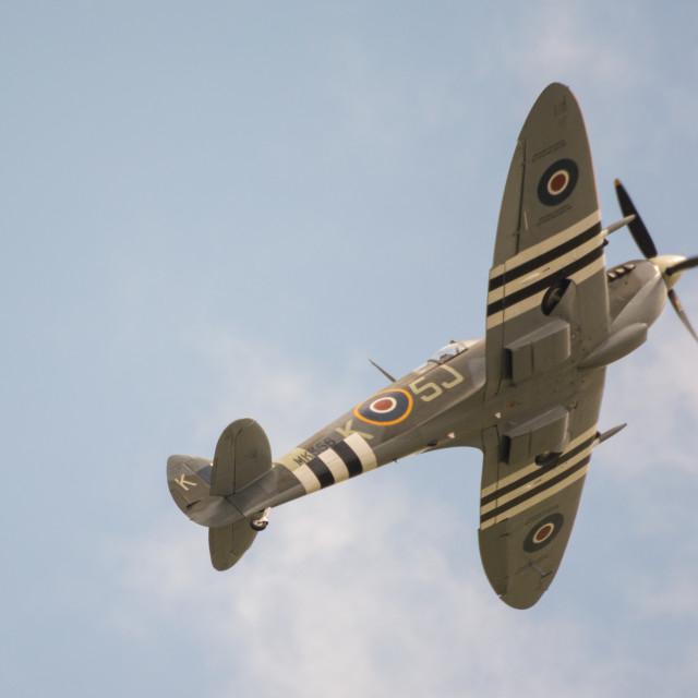"""BBMF Spitfire"" stock image"