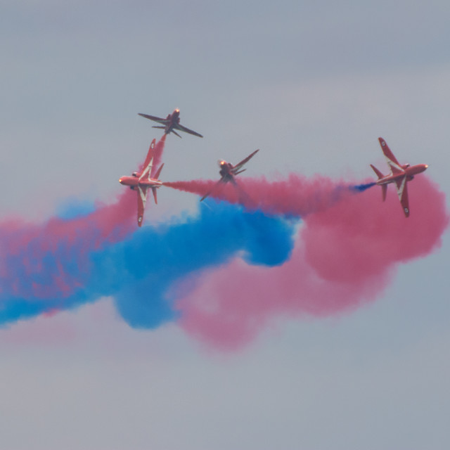 """""""Red Arrows in action"""" stock image"""