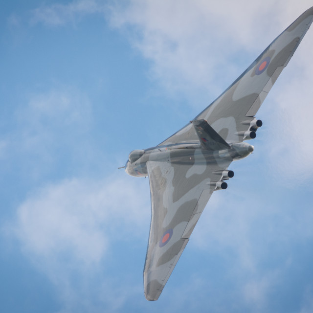 """""""Vulcan Bomber in action"""" stock image"""