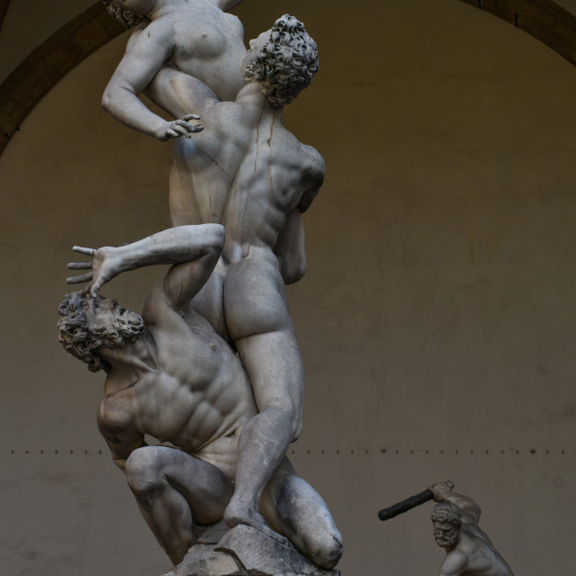 """""""In Florence, the Sculptures Seem Alive"""" stock image"""