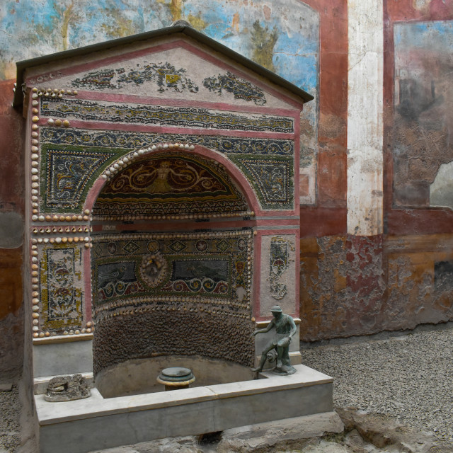 """Remarkable Preservation in Pompeii"" stock image"