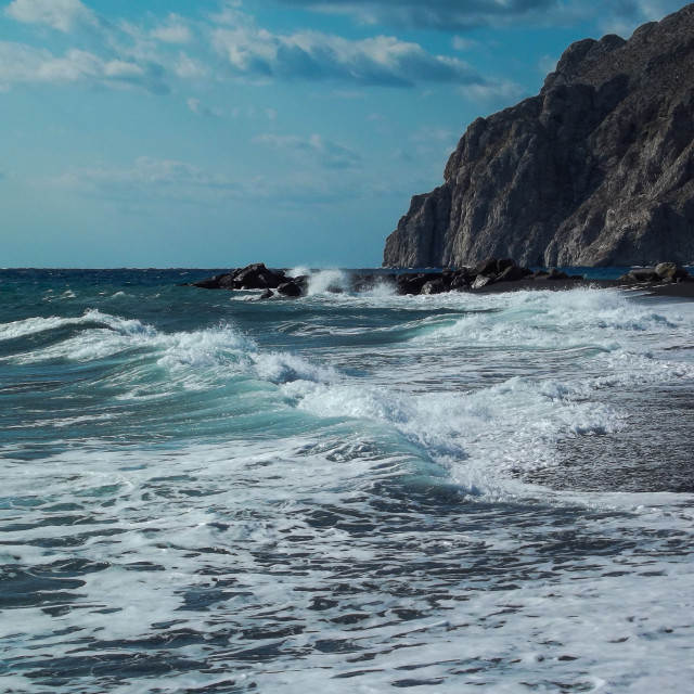 """Santorini Surf"" stock image"