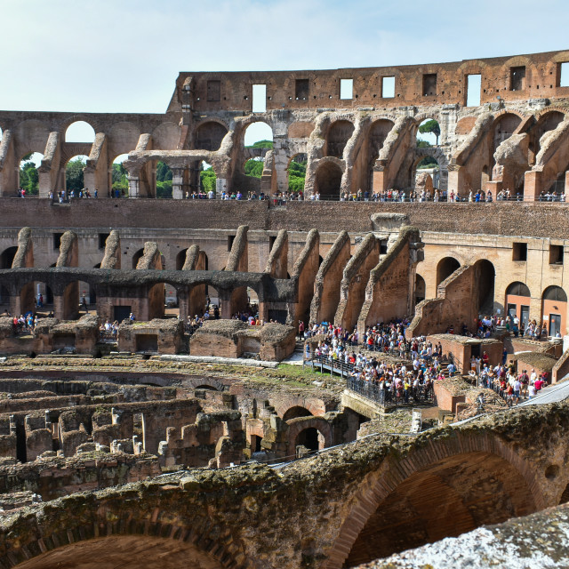 """The Colloseum Interior"" stock image"