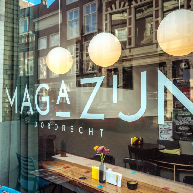 """""""Restaurant Het Magazijn"""" stock image"""