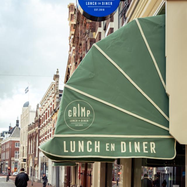 """Canopy restaurant De Crimp"" stock image"