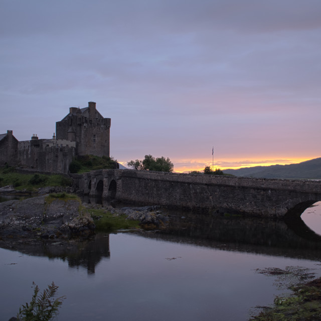 """Eilean Donan Castle at Sunset"" stock image"