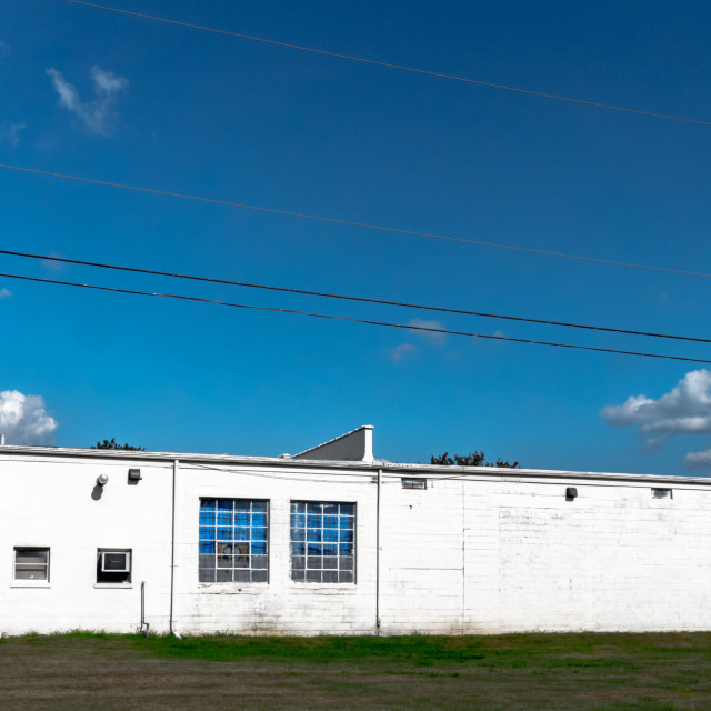 """White Industrial Building"" stock image"