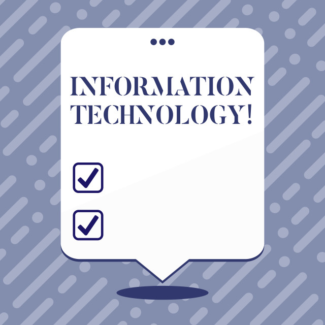 """Text sign showing Information Technology. Conceptual photo Science and..."" stock image"