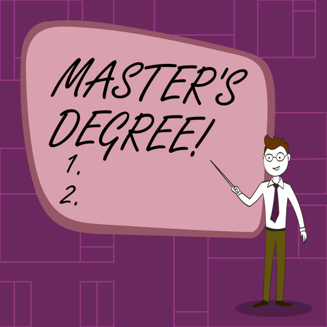 """""""Text sign showing Master S Degree. Conceptual photo academic degree awarded..."""" stock image"""