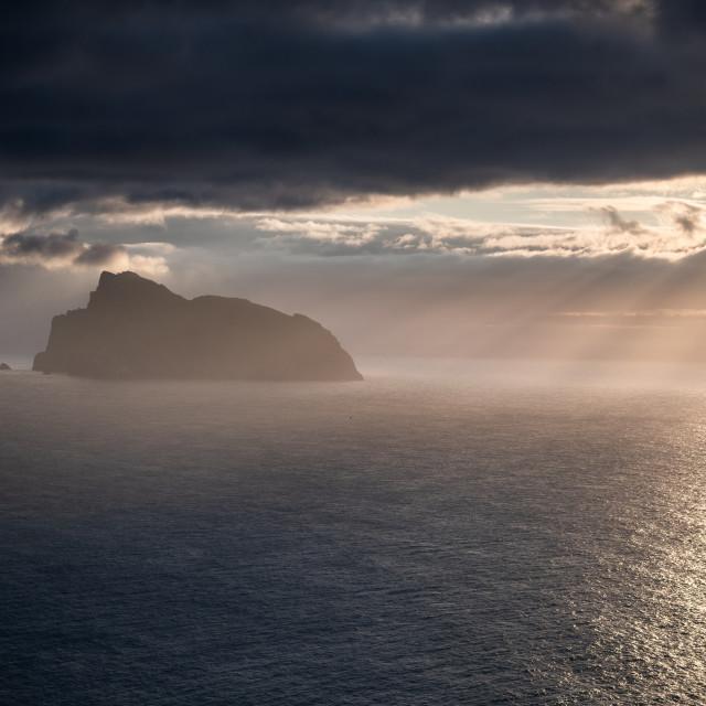 """Morning Light - Boreray, St Kilda"" stock image"