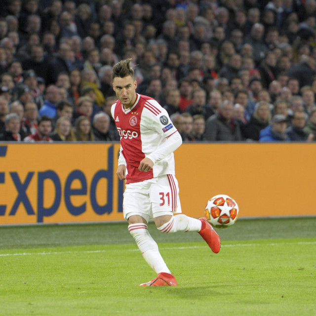 """Amsterdam NL 10 april 2019 Champions League wedstrijd AFC Ajax Amsterdam –..."" stock image"