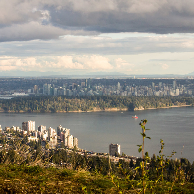 """view of Stanley Park from Cypress Mountain"" stock image"