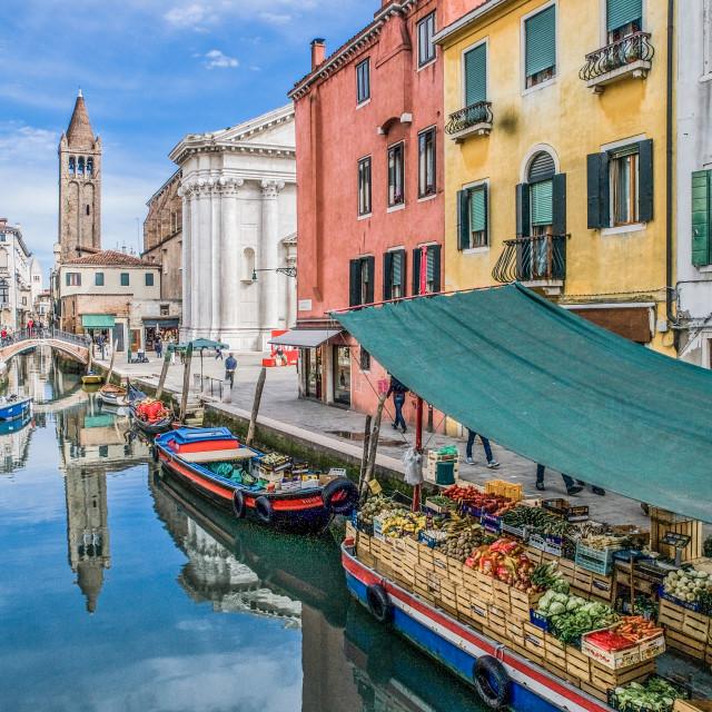 """Venice Floating Market"" stock image"