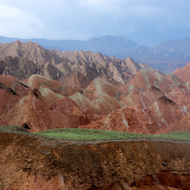 """""""Colourful mountains at Zhangye"""" stock image"""