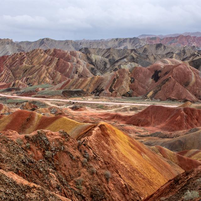 """Colourful landscape"" stock image"