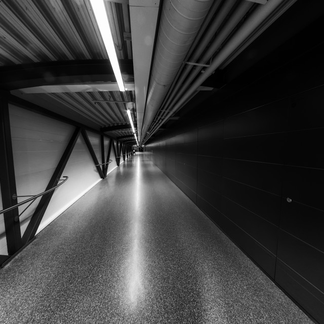 """""""Corridor At The Airport"""" stock image"""