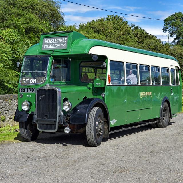 """1940's Single Decker Bristol Bus"" stock image"