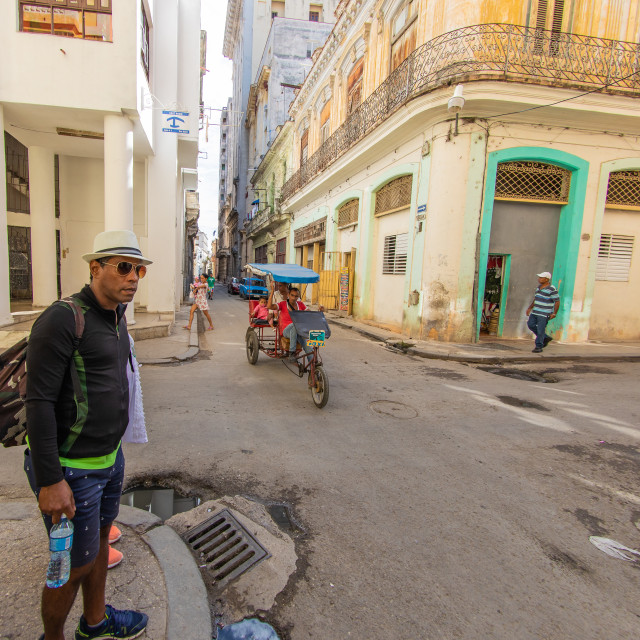 """Streetlife in Havana Cuba"" stock image"